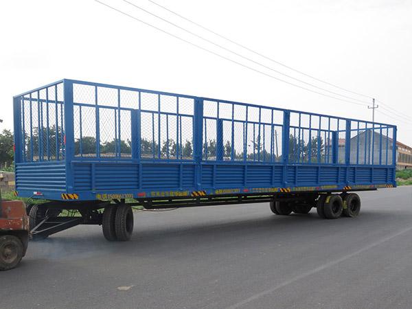 潍坊4.5T动力单元自卸镀锌挂车