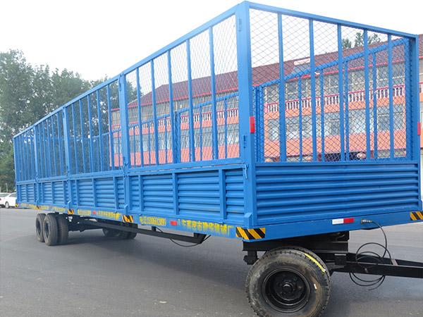 潍坊8吨欧式单轴农用挂车